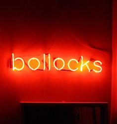 'Bollocks' neon at Philip Oakley Illuminations, England. The british version of my bullshit card.