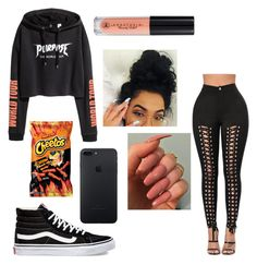 """._.PURPOSE._."" by lovvveeeeee ❤ liked on Polyvore featuring Vans and Anastasia Beverly Hills"