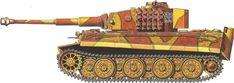 Tiger H/E camouflage patterns - Lithuania, July 1944 sPzAbt510