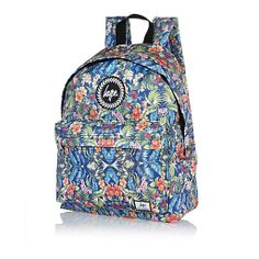 Blue Hype floral print backpack #riverisland #RImenswear