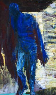 Euan Macleod  BLUE FIGURE SMALL ROOM, 2004    120 x 70 cm    Oil on Linen;