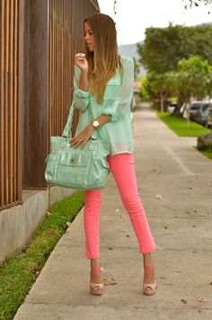 Our Favorite Style: MINT & PINK.... NEON