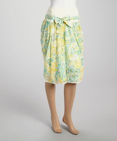 Green Floral Embroidered Skirt by Papillon Imports #zulily #zulilyfinds
