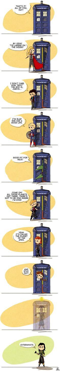 Doctor Who/Avengers mashup by flatbear on DeviantArt