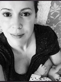 Alyssa Milano Shares Breastfeeding Photo With Her Daughter on Instagram - LifetimeMoms