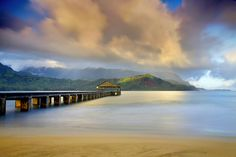 Light at the end of the Pier - Hanalei, Kauai, Hawaii by Patrick Smith