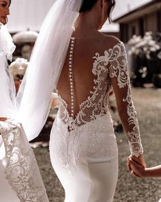 24 Stunning Trend: Tattoo Effect Wedding Dresses ❤ tattoo effect wedding dresses lace with illusion sleeves buttons nicolemilano #weddingforward #wedding #bride #weddingoutfit #bridaloutfit #weddinggown