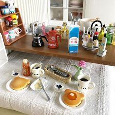 2018.03.05   今日の朝食はクマさんパンケーキ   美味しかった   #リーメント #ミニチュア #ドールハウス #rement #miniature #dollhouse #食玩 #ぷちサンプル #pinterest #pin #パンケーキ