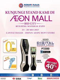 Sahabat KENARI DJAJA ....  KAMI hadir kembali di Pameran Building Material Expo AEON MALL SERPONG Tanggal 23 Mei - 28 Mei 2017  Informasi Hub. : Ibu Tika 0812 8567 7070 ( WA / Telpon / SMS ) 0819 0506 7171 ( Telpon / SMS )  Email : digitalmarketing@kenaridjaja.co.id  [ K E N A R I D J A J A ] PELOPOR PERLENGKAPAN PINTU DAN JENDELA SEJAK TAHUN 1965  SHOWROOM :  JAKARTA & TANGERANG 1 Graha Mas Kebun Jeruk Blok C5-6 Telp : (021) 536 3506, Fax : (021) 530 0592  2 Jl. Pi..