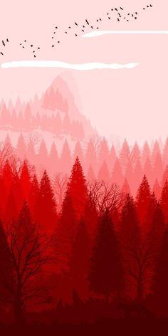 Landscape Wallpaper, Nature Wallpaper, Of Wallpaper, Wallpaper Backgrounds, Iphone Wallpaper, Illustration Noel, Digital Illustration, Amoled Wallpapers, Minimalist Wallpaper