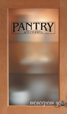Pantry Vinyl Decal Pantry Door Decal Glass By OZAVinylGraphics - Vinyl stickers for glass doors