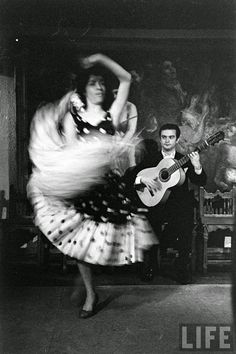 Gypsy Dancers in Madrid in 1960