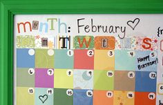 Picture Frame Calendar  Make it dry erase!