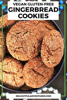 Easy, soft, and chewy vegan gluten free gingerbread cookies that are perfectly spiced and will make a welcome addition to your holiday baking. Add this recipe to your festive vegan gluten-free cookies list! Gluten Free Gingerbread Cookies, Vegan Gluten Free Cookies, Holiday Baking, Christmas Baking, Ginger Bread Cookies Recipe, Festive, Eat, Recipes, Food