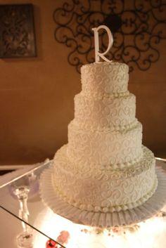 My Wedding Cake.  Simple but Beautiful.