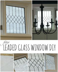 Faux Leaded Glass Window Tutorial is part of Stained glass diy - Easy way to create a realistic looking faux leaded glass window Article includes a detailed tutorial with pictures on how to DIY this yourself Diy Staining, Transom Windows, Painting On Glass Windows, Minimalist Decor, Led Diy, Window Projects, Leaded Glass, Diy Window, Stained Glass Diy