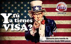Tramitamos tu visa americana en Xalapa | Agencia de Viajes en Xalapa Excel Tours Visa Americana, California, Tours, Baseball Cards, Sports, Movies, Movie Posters, Travel, Travel Agency