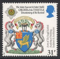 The set is the 1987 issue to mark the 300th anniversary of the Revival of the Order of the Thistle. From Stamp Magazine's blog