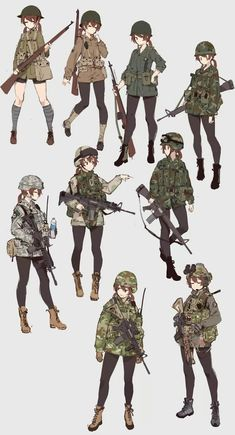 Marvelous Learn To Draw Manga Ideas. Exquisite Learn To Draw Manga Ideas. Anime Military, Military Girl, Anime Art Girl, Manga Art, Anime Girls, Female Characters, Anime Characters, Character Concept, Character Art
