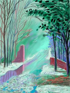 Arrival of Spring in Woldgate : Digital : Works | David Hockney