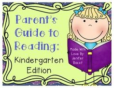 """""""What can I do at home to help my child learn to read?""""   As a Reading Specialist, I hear this question frequently from parents. I created this guide to give parents information, activities, and suggestions for helping their children at home. This guide is perfect for parents because it explains early reading concepts in clear, easy-to-understand language. You don't have to be an education professional to understand this parent guide!"""