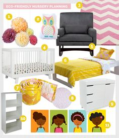 Green Room in a Box: Planning an Eco-Friendly Nursery. This is my plan for a shared nursery with my 8-year-old girl.