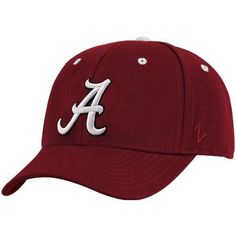 NCAA Zephyr Alabama Crimson Tide Crimson Fitted Hat with White