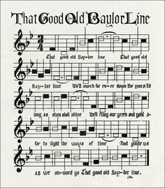 "The story behind Baylor University's school song, ""That Good Old Baylor Line."""
