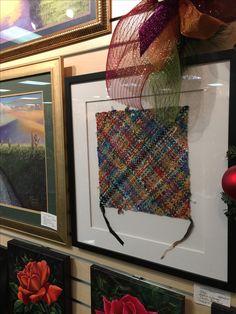 Textile Art for home or office. #clarasloom #handweaving