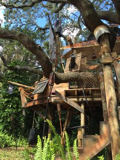 Tom Sawyer Pirate theme tree house created by Tinytownstudios
