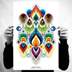 Amazing colorful graphic poster print. #inspire #rainbow #print #graphic #poster #art #design