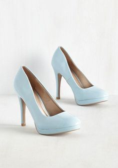 Give your sneaks a rest and add some verve to your day's ensemble! This pastel blue, platform pump is crafted from glossy, vegan faux leather and kicks your daily activities - from errands to a lunch date - up a notch!