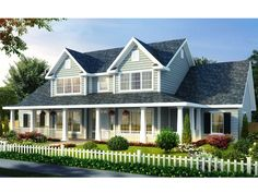 059H-0112: Country House Plan with 4 Bedrooms & 3 Baths