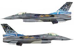 "F-16C Block52 #505 (s/n 99-1505, c/n XK-6) from 343 Mira ""Star (Asteri)"", Hellenic Air Force - HAF. aerobatic team ""Zeus"". July 2015"