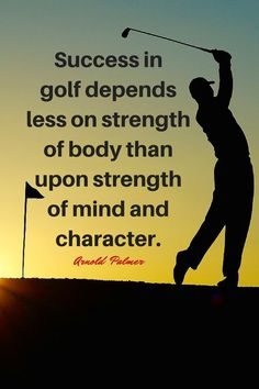 This is how the great Arnold Palmer views golf. Want more golf quotes and inspiration, follow Lori's Golf Shoppe