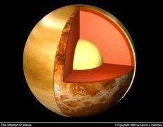 Las sorpresas de Venus: Corte de Venus con una estructura interna parecida a la terrestre