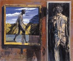 Euan Macleod  -  Painting with Painting. 2005. Oil on canvas. 150 x 180cm.