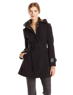 Via Spiga Women's Soft Shell Jacket with Hood * Find out more about the great product at the image link.