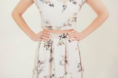 RTW Collection    E&W Couture    Aderyn Skirt    Printed Crop    Seperates    Bridal Seperates    Alternative wedding dress