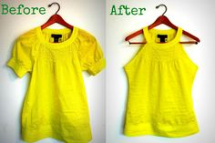 A quick fix - just cut off the sleeves