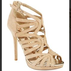 NWT Sam Edelman Heels w/box Beige Eve Caged Heels. Sold out online. Purchased at Bloomingdales but a little too big. Size 8. Brand new. Never worn w/box Sam Edelman Shoes Heels