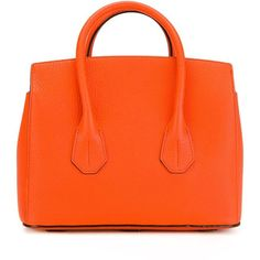 Bally Sommet Tote ($558) ❤ liked on Polyvore featuring bags, handbags, tote bags, tote hand bags, bally handbag, orange purse, tote bag purse and handbags totes