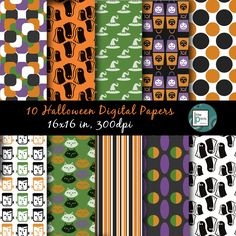 A personal favorite from my Etsy shop https://www.etsy.com/ca/listing/250429761/halloween-digital-paper-halloween
