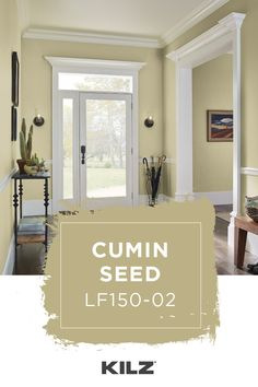 CUMIN SEED is one of over 800 colors from KILZ®. Kitchen Paint Colors, Room Paint Colors, Paint Colors For Living Room, Interior Paint Colors, Paint Colors For Home, House Colors, Paint Colors With White Trim, Entryway Paint Colors, Neutral Paint
