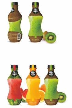 The use of hyper realistic images of each fruit they use for the juice is very original. The photos also make the juice seem very natural. Fruit Packaging, Cool Packaging, Beverage Packaging, Packaging Design, Fruit Cups, Fruit Drinks, Fruit Juice, Juice Diet, Beverages