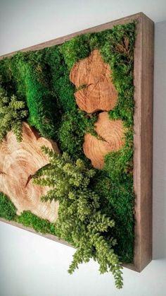 5 Exquisite Tips: Artificial Plants Indoor Bedroom artificial grass bob vila.Artificial Plants Arrangements Home. Moss Wall Art, Moss Art, Jardin Vertical Artificial, Artificial Plants, Garden Art, Garden Design, Garden Ideas, Green Garden, Green Plants
