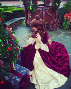 Belle's Christmas dress!  Oh how I dream about being Belle at Disney World. I think it would be a fun job.