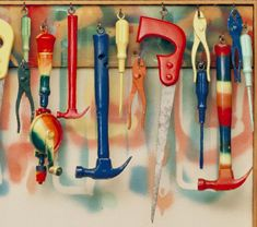 Jim Dine, Five Feet of Colorful Tools USING FOUND OBJECTS