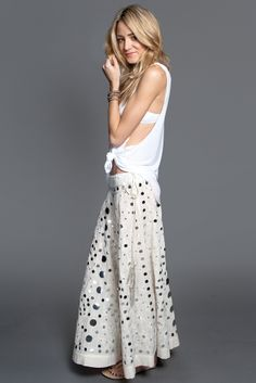 Chan Luu - Mirrored Embroidered Skirt, $420.00 (http://www.chanluu.com/apparel/mirrored-embroidered-skirt-/)  **Someday I can afford this :)**