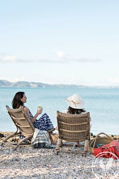 Relaxed summer afternoons perfectly had in the Rattan Coast Chair www.frenchcountry.co.nz